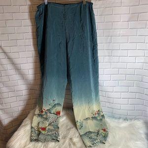 Citron Santa Monica Silk Pants Size L